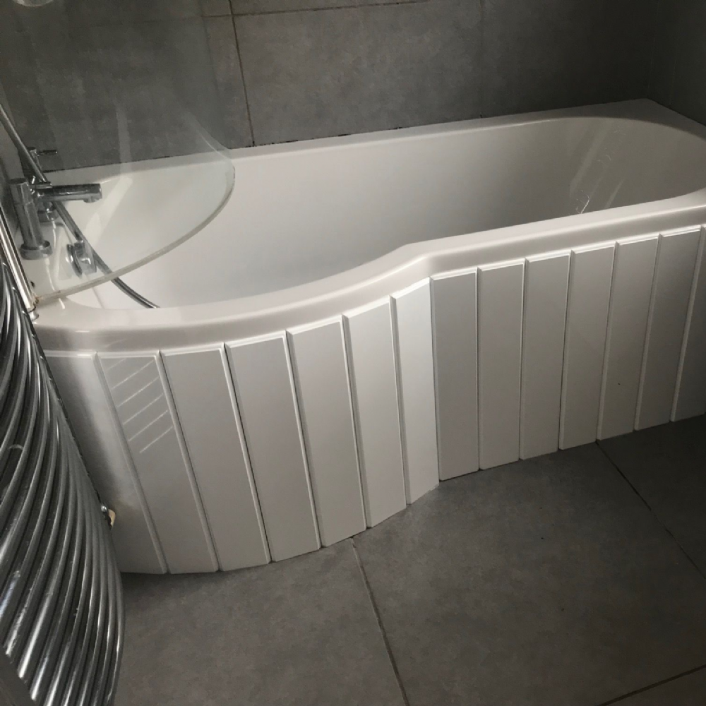 Custom Made Flexible Bath Panel Ideal For P Shaped Shower